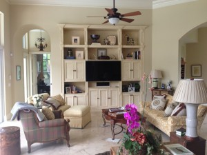 Wellington Equestrian Home Family Room