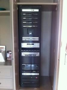 Custom built equipment rack